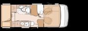 układ wnętrza KNAUS VAN i 580 MK